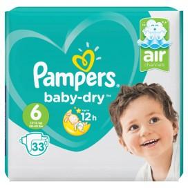 Pampers Baby-Dry Gr.6 Extra Large (13-18 kg) Sparpack (33 STK)