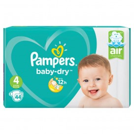 Pampers Baby-Dry Gr. 4 Maxi (9-14 kg) Sparpack (44 STK)