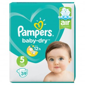 Pampers Baby-Dry Gr.5 Junior (11-16 kg) Sparpack (39 STK)