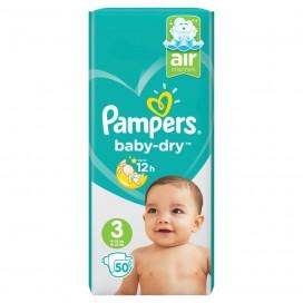 Pampers Baby-Dry Gr.3 Midi (6-10 kg) Sparpack (50 STK)