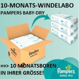 10-MONATS-Windelabo PAMPERS Baby-Dry