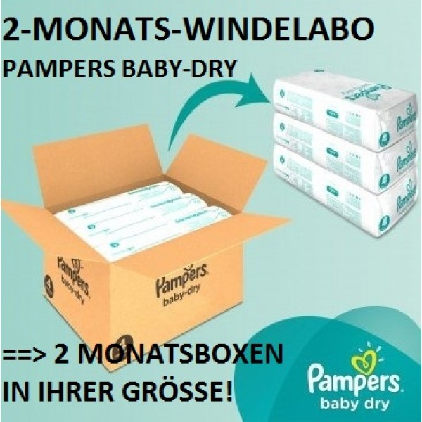 2-MONATS-Windelabo PAMPERS Baby-Dry