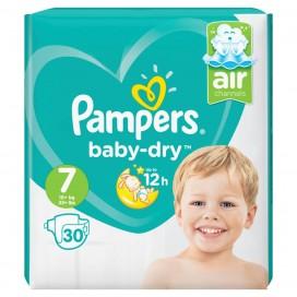 Pampers Baby-Dry Gr. 7 XXL  (15+ kg) Sparpack (30 STK)