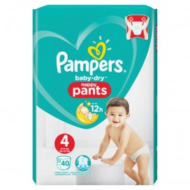 Pampers Baby-Dry PANTS Gr. 4 Maxi 9-15kg Beutel (40 STK)