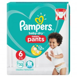 Pampers Baby-Dry PANTS Gr. 6 XL +15kg Beutel (32 STK)
