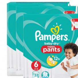 Pampers Baby-Dry PANTS Gr. 6 (+15Kg) Sparpack (3 x 32 STK)