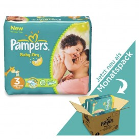 Pampers Baby-Dry Gr.3 Midi (6-10 kg) MONATSBOX (198 STK)