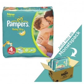 Pampers Baby-Dry Gr.4 Maxi (9-14 kg) MONATSBOX (174 STK)