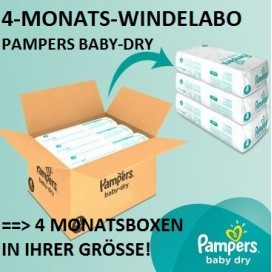 4-MONATS-Windelabo PAMPERS Baby-Dry