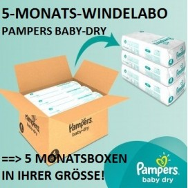 5-MONATS-Windelabo PAMPERS Baby-Dry