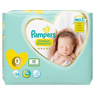 Pampers Premium Protection Gr.0 Micro 1-2.5kg Tragepack (24 STK)
