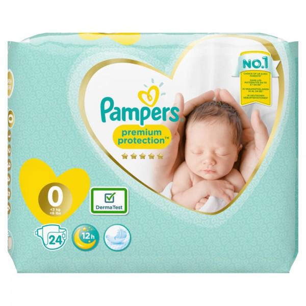 Pampers Premium Protection Gr.0 Micro 1-2.5kg Tragepack (24 STK)