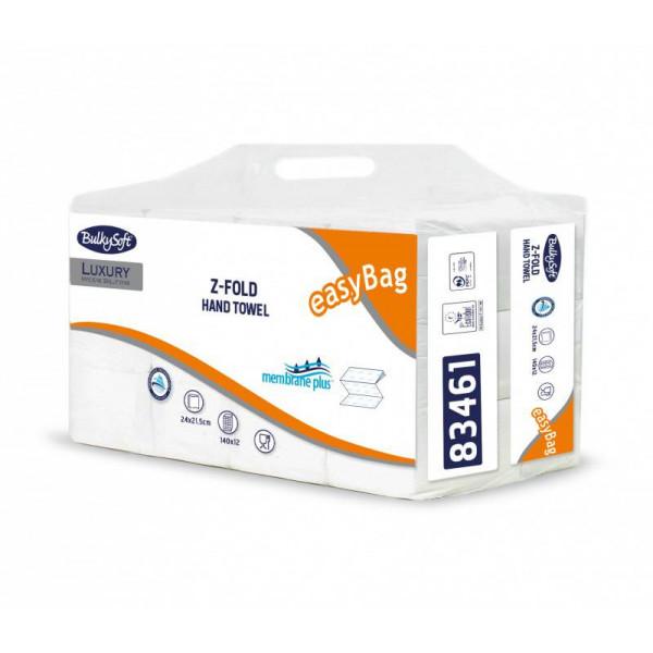 Serviettes en papier Membrane light, carton 3 plis (liasse de 12x à 140 feuilles) Pliage en Z