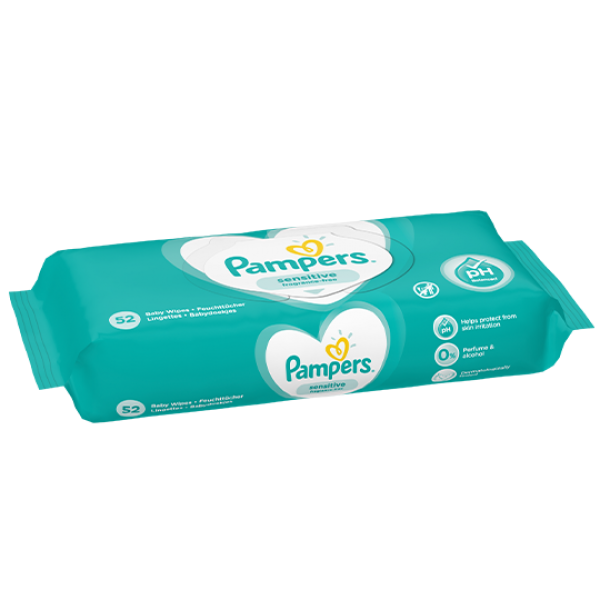 Pampers Sensitive Feuchttücher (52 STK)