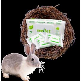 Swilet Oster-Aktion: Swilet Feuchttücher Bio Karton (12 x 72 STK) & 3 Beutel Swilet Feuchttücher Bio TRAVELLER (20 STK) gratis
