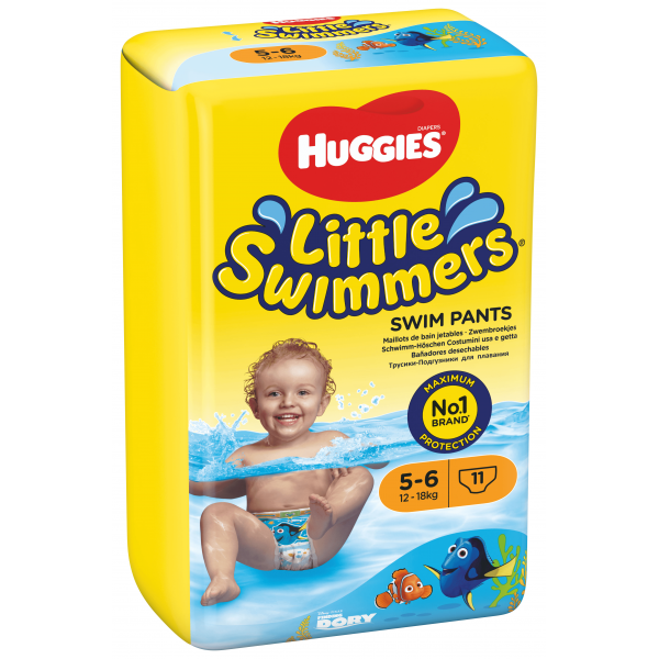 Huggies Schwimm-Windeln Grösse 5-6  (12-18 Kg) KARTON (8 x 11 STK)
