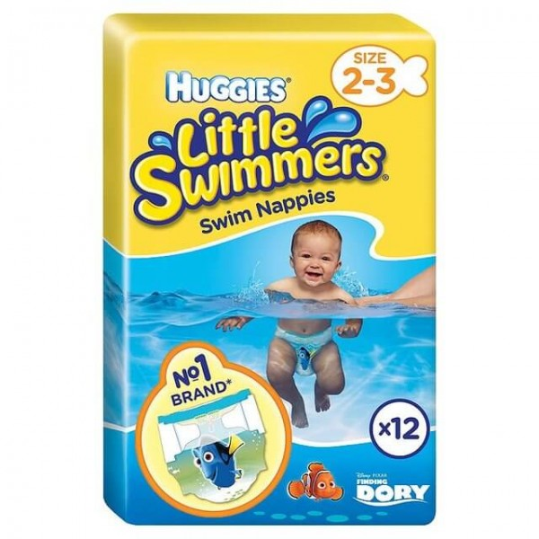 Huggies® Little Swimmers® taille 2-3 (3-8 kg) carton (8 x 12 pces)