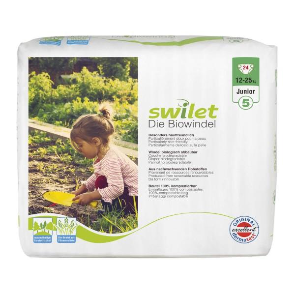 Swilet - Die Biowindel Gr.5 Junior (12-25kg) Beutel (24 STK)