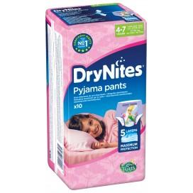 Huggies DryNites® Pyjama Pants Girl 4-7 Jahre (17-30 kg) Beutel (10 STK)