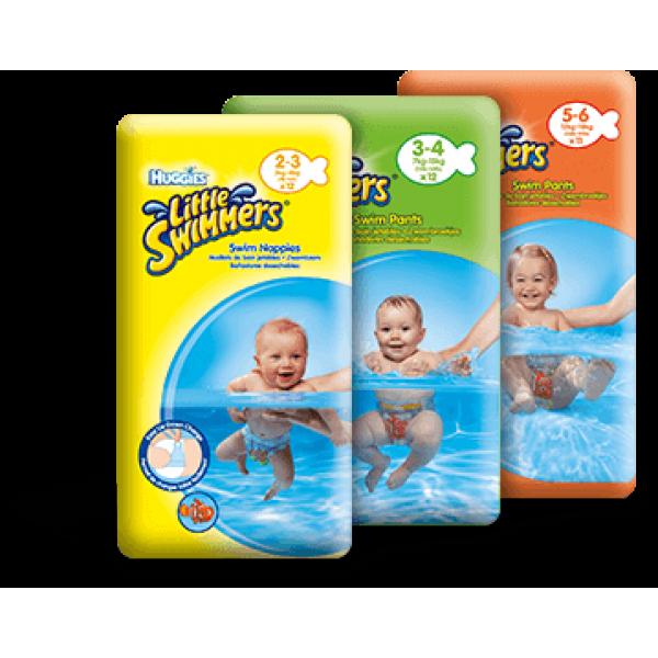 Huggies Schwimm-Windeln  Grösse 2-3 (3-8 Kg) KARTON (8 x 12 STK)