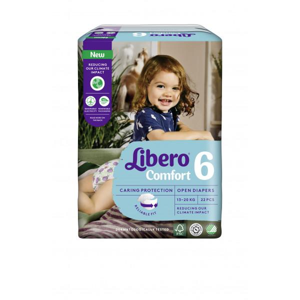Libero Couches Comfort Junior (13-20 kg) Taille 6 (22 pces)