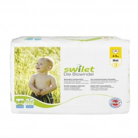 Swilet - Die Biowindel Gr.3 Midi (4-9kg) Beutel (28 STK)