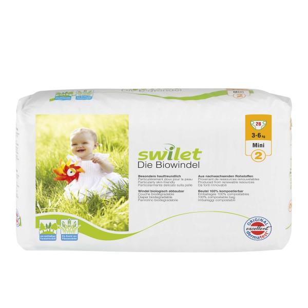 Swilet - Die Biowindel Gr.2 Mini (3-6kg) Beutel (28 STK)