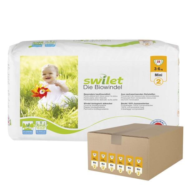 Swilet - Die Biowindel Gr.2 Mini (3-6kg) Karton (6 x 28 STK)