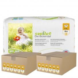Swilet - Die Biowindel Gr.2 Mini (3-6kg) 2er Karton (12 x 28 STK)