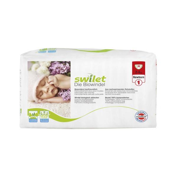 Swilet - Die Biowindel Gr.1 Newborn (2-4kg) Beutel (30 STK)