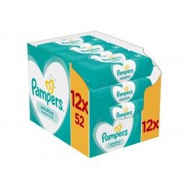 Pampers Sensitive Feuchttücher (Karton 12 x 52 STK)