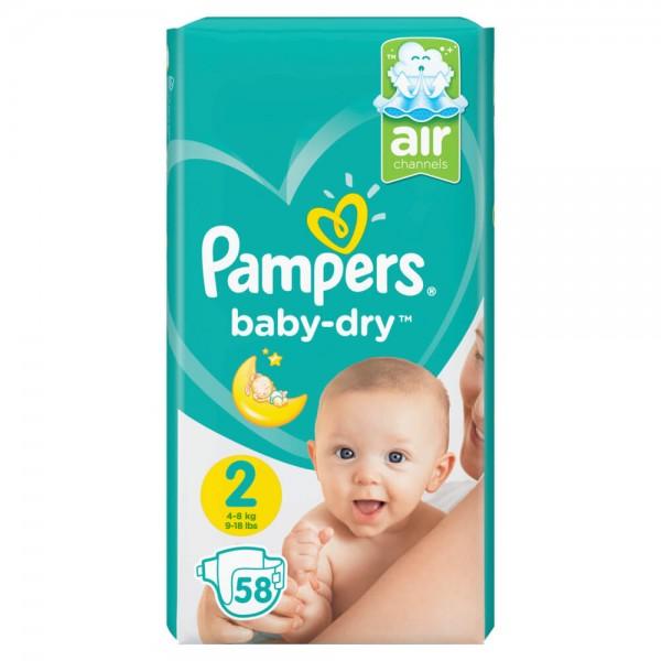 Pampers Baby-Dry Gr.2 Mini 4-8kg Sparpack (58 STK)