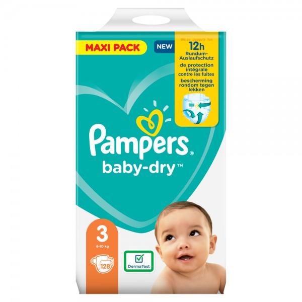Pampers Baby-Dry Gr.3 Midi 6-10kg Dreier-Pack / Maxi Pack (128 STK)