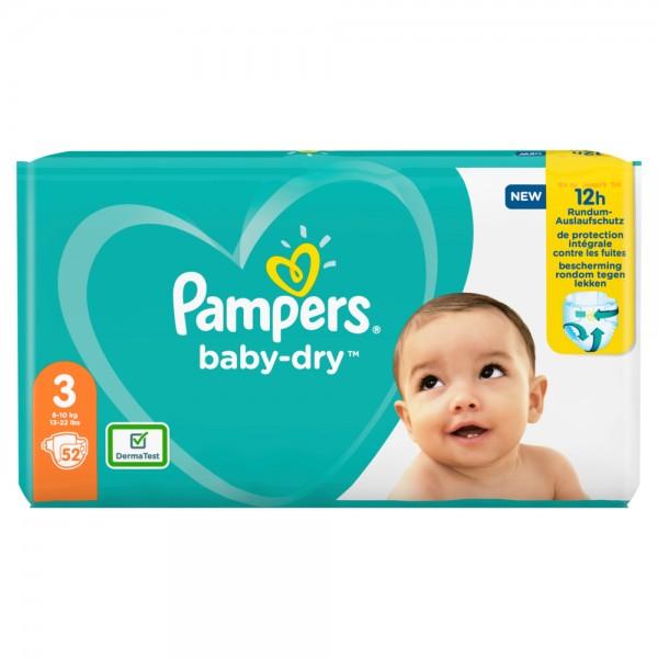 Pampers Baby-Dry Gr.3 Midi 6-10kg Sparpack (52 STK)