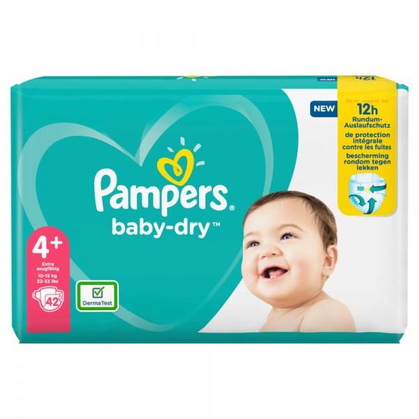 Pampers Baby-Dry Gr.4+ Maxi Plus 10-15kg Sparpack (42 STK)