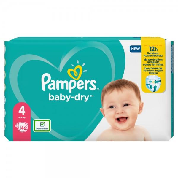 Pampers Baby-Dry Gr. 4 Maxi 9-14kg Sparpack (46 STK)