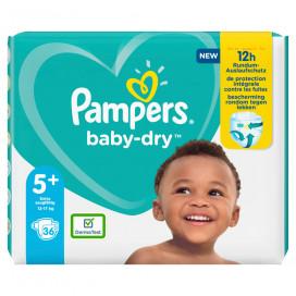 Pampers Baby-Dry Gr.5+ Junior Plus 12-17kg Sparpack (36 STK)