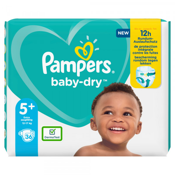 Pampers Baby-Dry Gr.5+ Junior Plus 12-17kg Sparpack (36 STK)