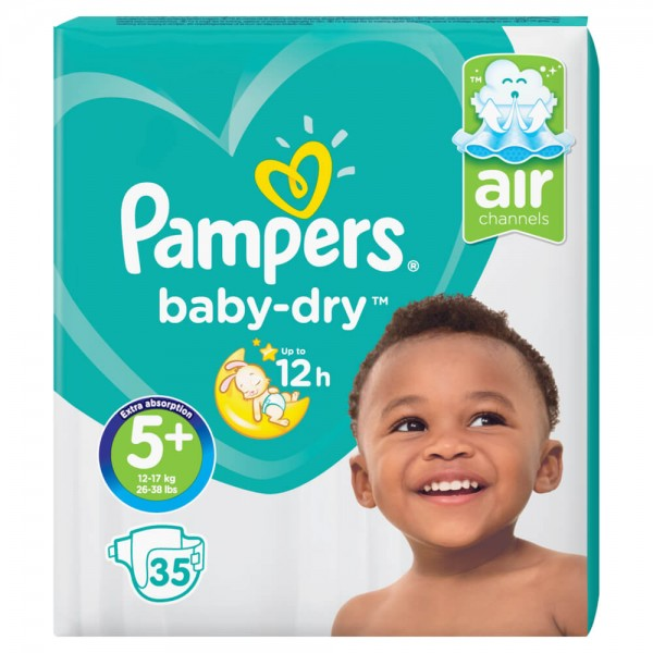 Pampers Baby-Dry Gr.5+ Junior Plus 12-17kg Sparpack (35 STK)