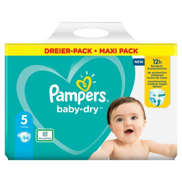 Pampers Baby-Dry Gr.5 Junior 11-16kg Dreier-Pack / Maxi Pack (94 STK)