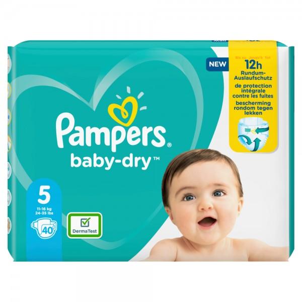 Pampers Baby-Dry Gr.5 Junior 11-16kg Sparpack (40 STK)