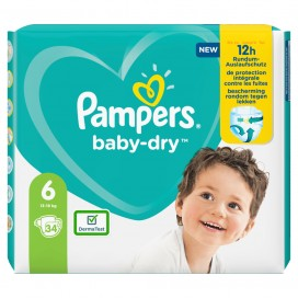 Pampers Baby-Dry Gr.6 Extra Large 13-18kg Sparpack (34 STK)