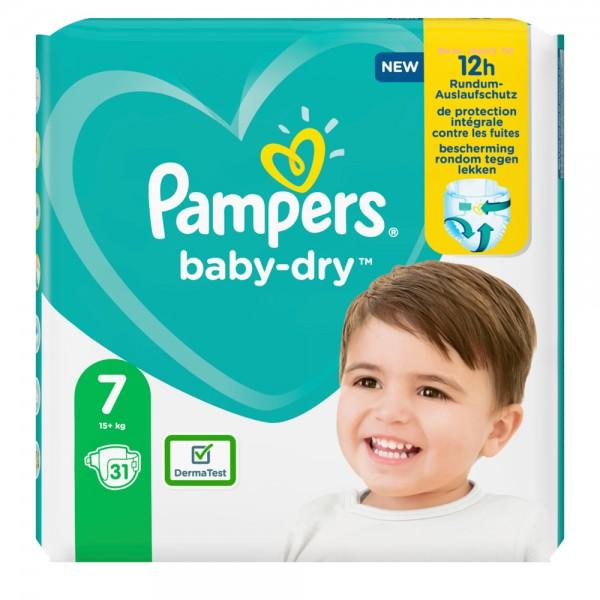 Pampers Baby-Dry Gr. 7 XXL  15+kg Sparpack (31 STK)