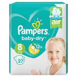 Pampers Baby-Dry Gr. 8 Extra Large Plus (17+ kg) Sparpack (27 STK)