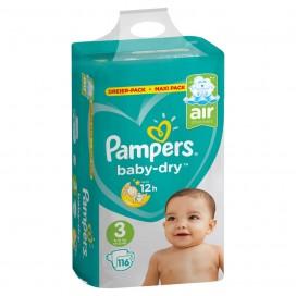 Pampers Baby-Dry Gr.3 Midi (6-10 kg) Dreier-Pack / Maxi Pack (116 STK)