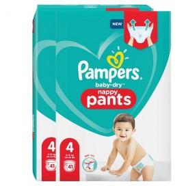 Pampers Baby-Dry PANTS Gr. 4 Maxi 9-15kg Sparpack (2 x 41 STK)