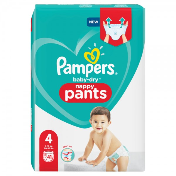 Pampers Baby-Dry PANTS Gr. 4 Maxi 9-15kg Beutel (41 STK)