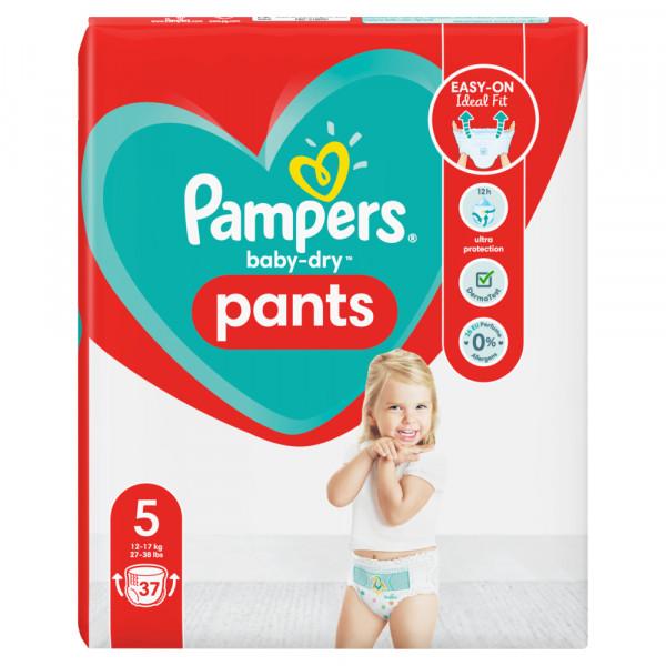 Pampers Baby-Dry PANTS Gr. 5 Junior 12-17kg (37 STK) Beutel