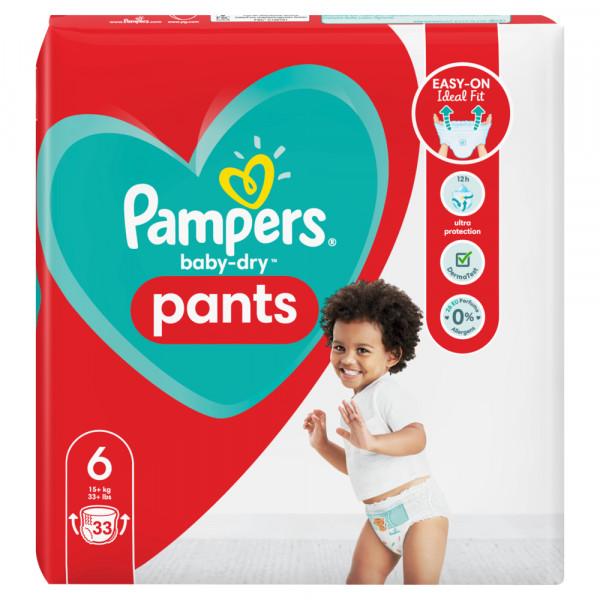 Pampers Baby-Dry PANTS Gr. 6 XL +15kg (3 x 33 STK) Sparpack