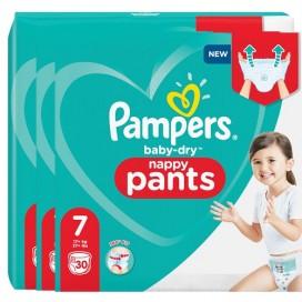 Pampers Baby-Dry PANTS Gr. 7 XXL +17kg (3 x 30 STK) Sparpack